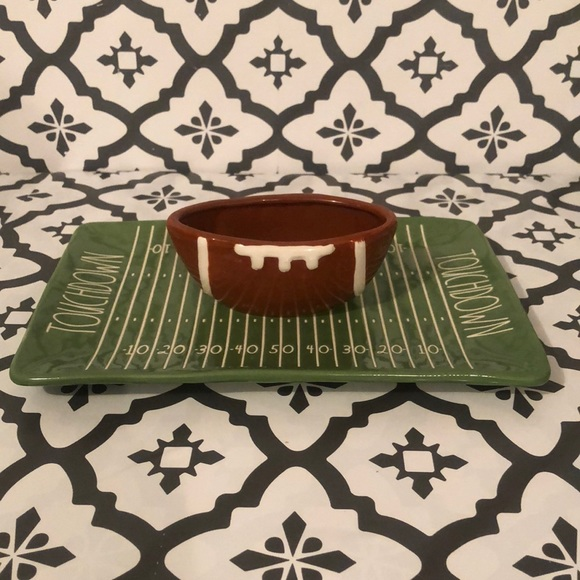 Rae Dunn TOUCHDOWN Snack Platter